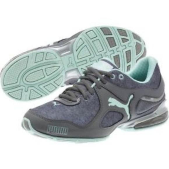 37e327688677 PUMA Women s Cell Riaz Sneaker - Grey Mint